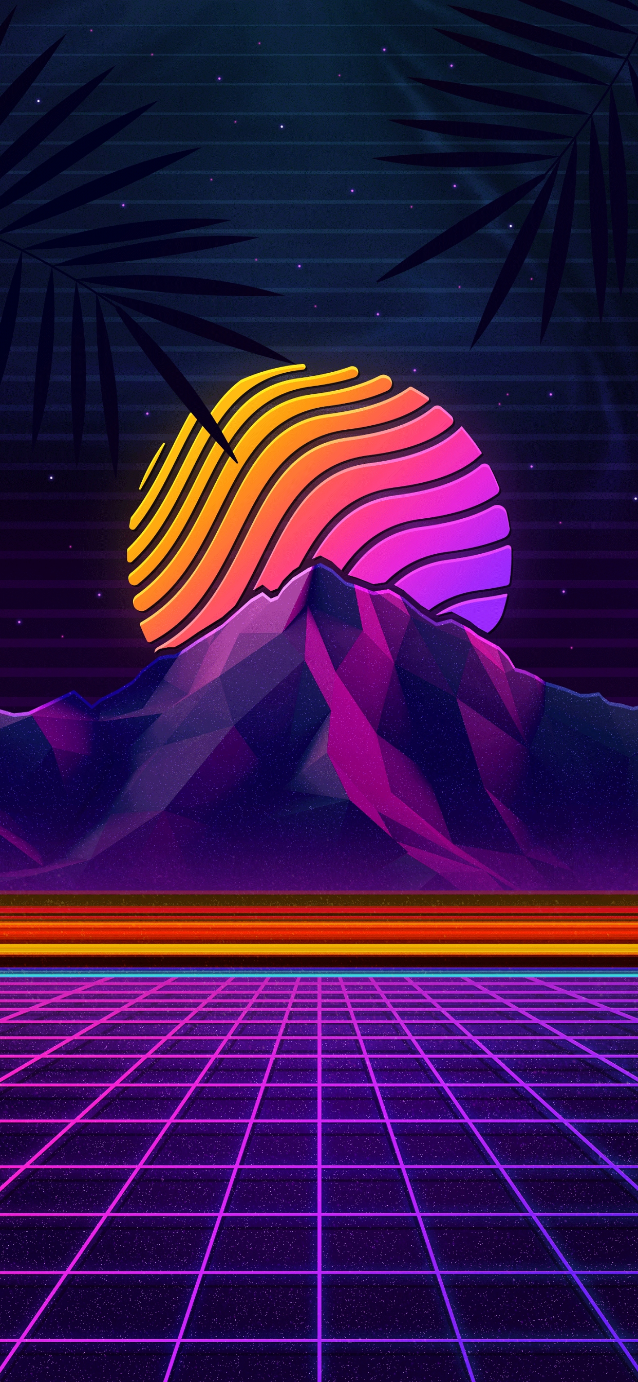 Wallpaper hd retro wave futuristic style outrun for iphone and android devices