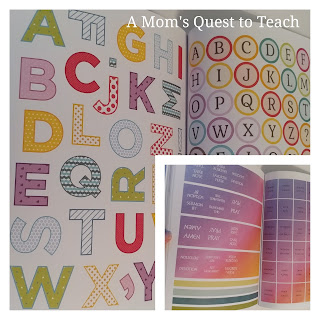 Sample stickers from Bible Journaling Book