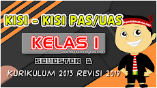 Kisi Kisi UAS/PAS Kelas 1 Tahun Pelajaran 2019/2020 Semester 1 K13