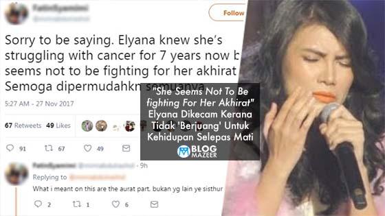 Tidak 'Berjuang' Untuk Kehidupan Selepas Mati, Elyana Dikecam Peminat
