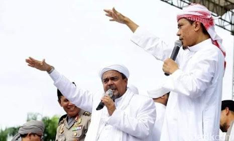 Foto Habib Rizieq dan Munarman