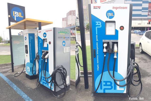 Instalan en Megapark un punto para recargar vehículos eléctricos en menos de 20 minutos