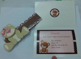 Convite ursa princesa