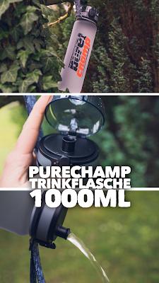 Gear of the Week #GOTW KW 02 | PURECHAMP Trinkflasche 1000ml | Getränkeflasche-Wandern | Trinkflasche-Wandern