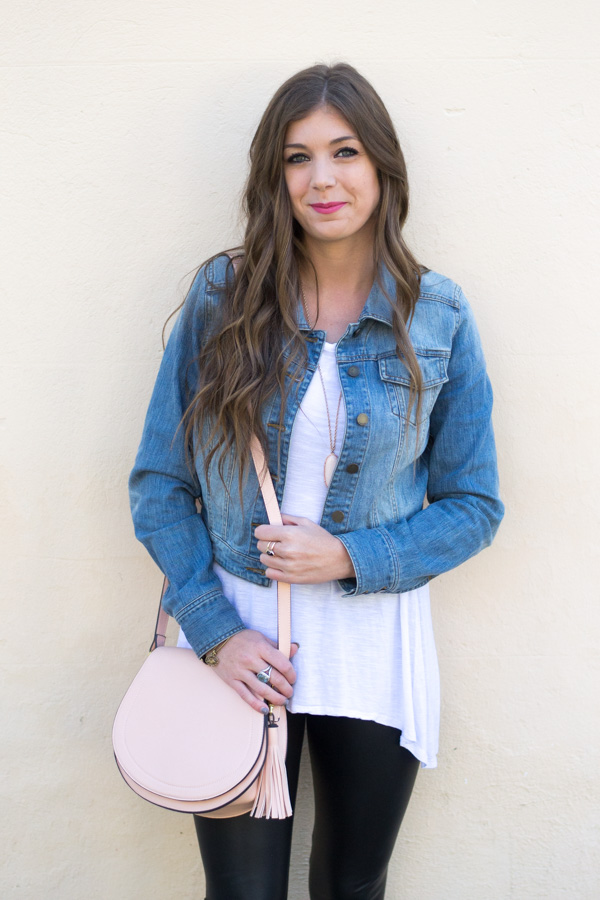 How To Style Faux Leather Leggings This Spring by Charleston fashion blogger Kelsey of Chasing Cinderella