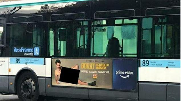 "Provokasi Lagi, Poster Film di Bus Prancis: Pria Berbikini Pakai Cincin Lafadz ""Allah"""