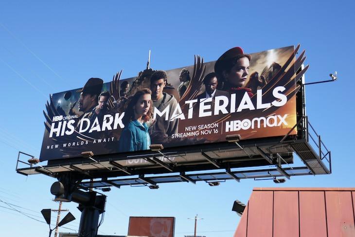 His Dark Materials season 2 cutout billboard