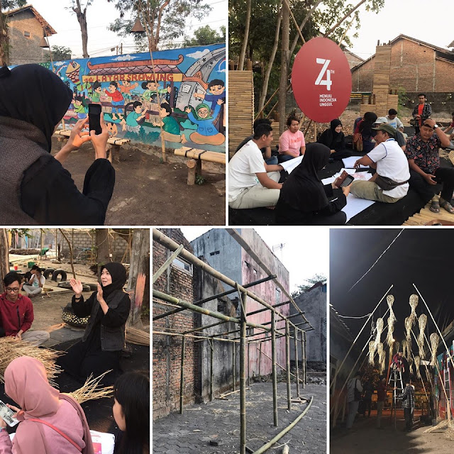 [HUT IAI 60] Kerja Bakti Kolaborasi Persiapan ARCHILEX 2019: Latar Srawung 55 Fest Karangwaru