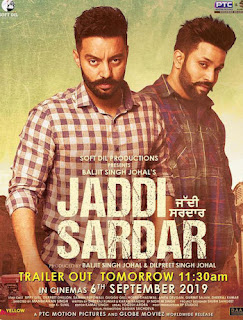 Jaddi Sardar (2019) Full Movie Download Punjabi 480p HDRip