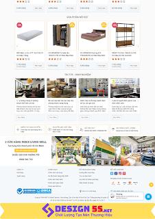 Theme blogspot bán hàng nội thất đẹp chuẩn seo VSM13 - Ảnh 2