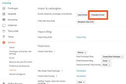 Cara import atau Export artikel pada Blog