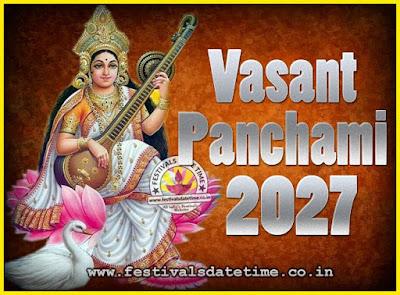 2027 Vasant Panchami Puja Date & Time, 2027 Vasant Panchami Calendar