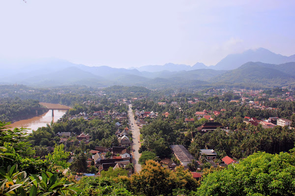 Nam Khan River seen from the Phou Si Hill - Luang Prabang