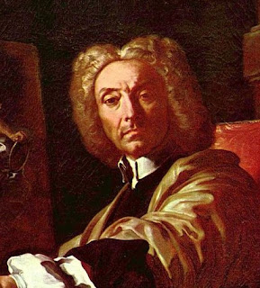 Francesco Solimena - a section from a self-portrait painted in around 1730