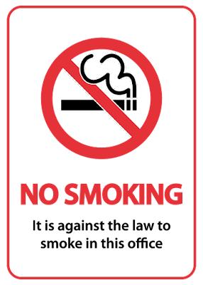 Stop smoking support in the office