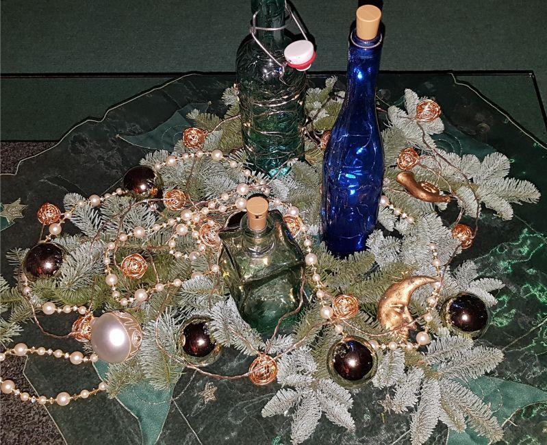 Weihnachtsdeko am Abend