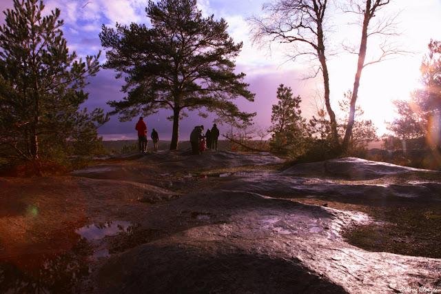 Les caprices du ciel au Point de vue de la Bombarde, Forêt de Fontainebleau