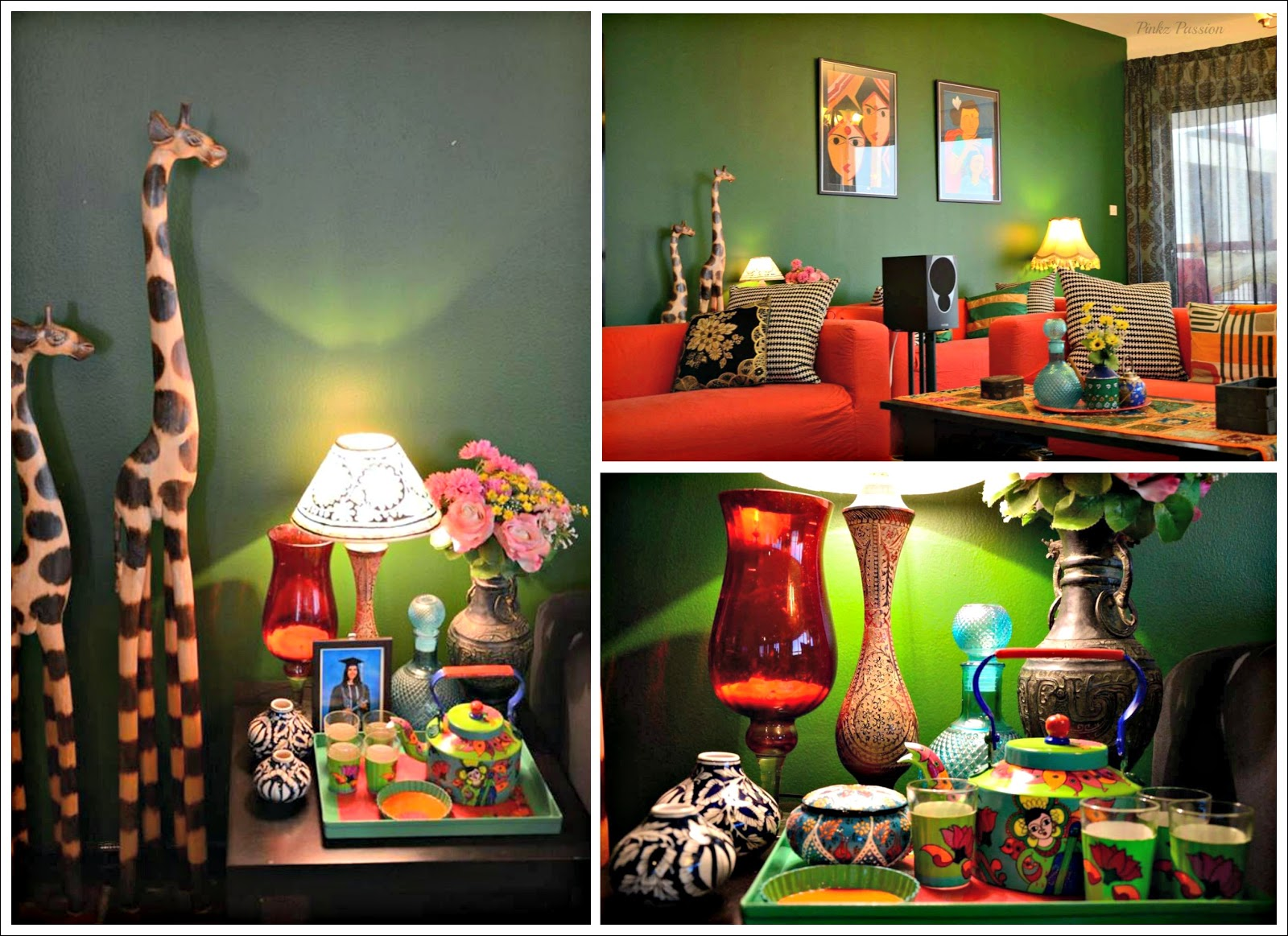 pinkz passion kaleidoscope of colors home tour of mallika sinha