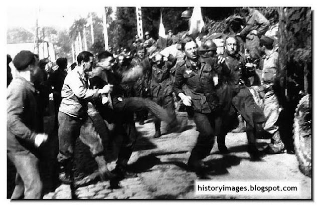 German soldier lynched French mob 1944