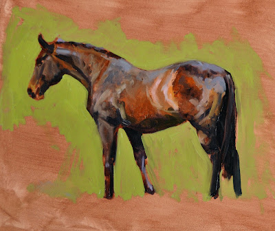 Laura Barber-Riley- Equestrian Artist: Life Painting with the Society of Equestrian Artists, Porlock Vale 2013