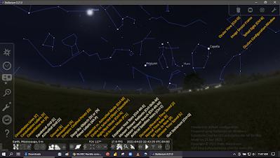 Stellarium toolbar buttons annotated - bottom