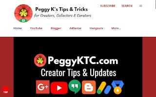 PeggyKTC.com home page