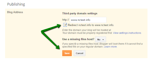 how to use custom domain in blogger.com