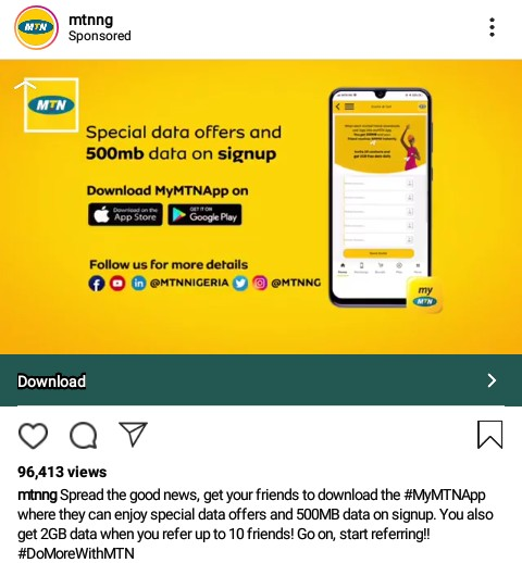 Get free 2gb data from MTN using my MTN app 2019