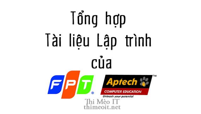 Tài liệu học Lập trình của FPT Aptech