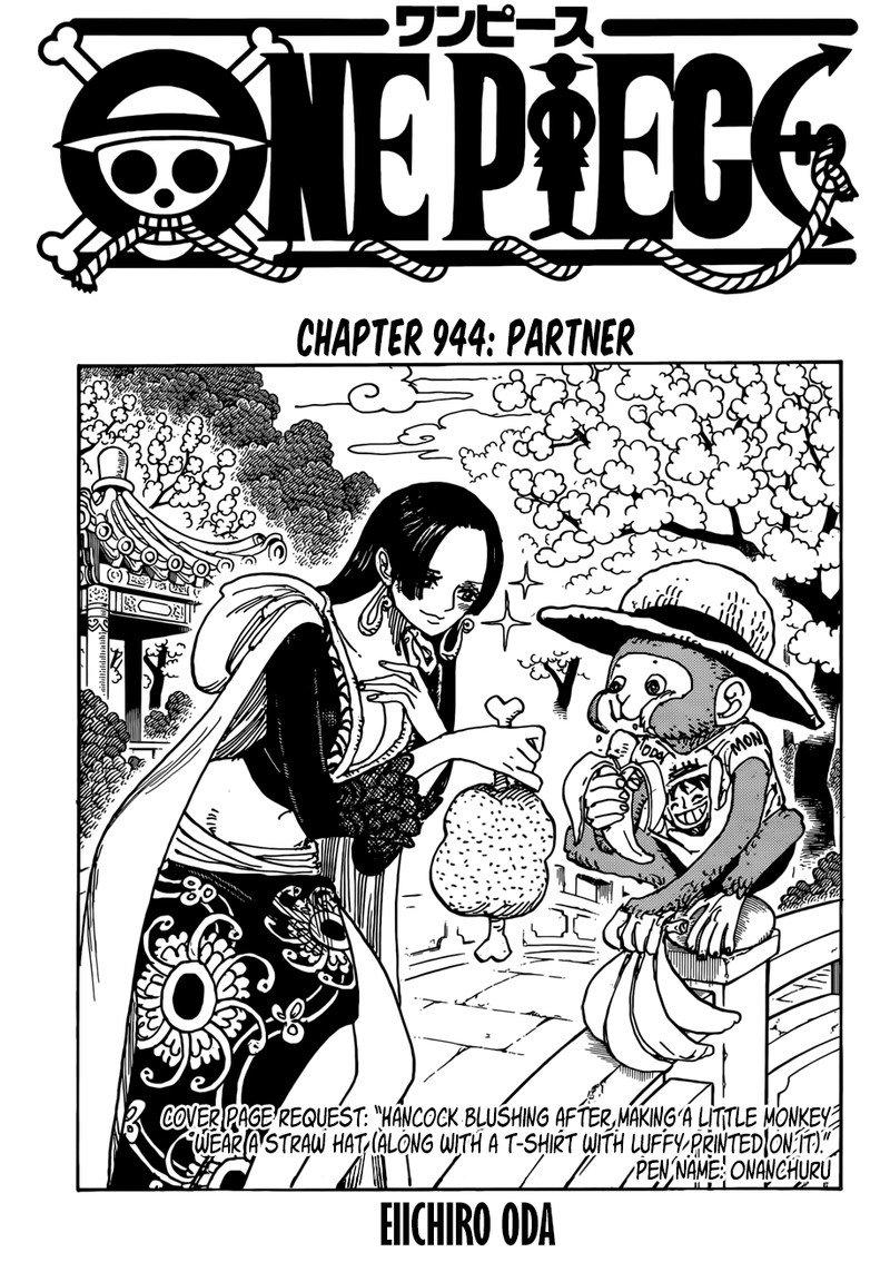 One Piece Manga Chapter 944 - Image 001