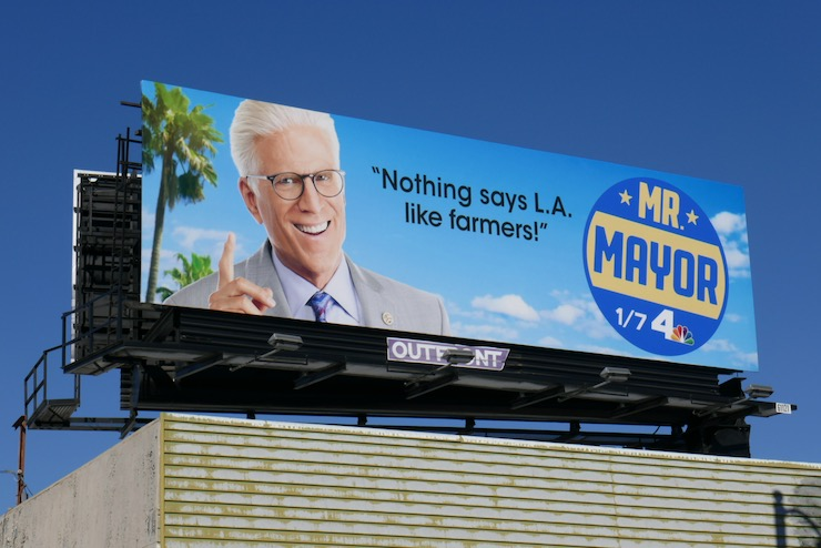 Nothing says LA like farmers Mr Mayor billboard
