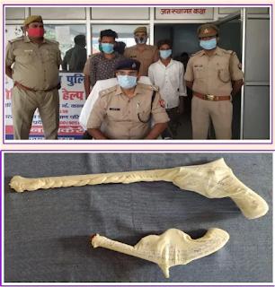 कानपुर: थाना चकेरी पुलिस टीम द्वारा अपराध के इरादे से जा रहे 2 शातिर अभियुक्तों को तमंचा के साथ गिरफ्तार किया