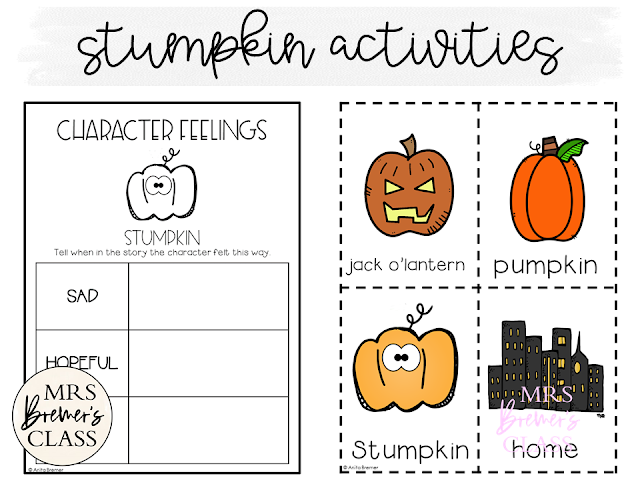 Stumpkin book study companion activities to go with the Halloween themed book by Lucy Ruth Cummins. Packed with fun literacy ideas and standards based guided reading activities. Common Core aligned. K-2 #1stgrade #2ndgrade #guidedreading #bookstudy #bookstudies #picturebookactivities #halloweenbook #Halloween #stumpkin #literacy #bookcompanion #bookcompanions #1stgradereading #2ndgradereading #kindergartenreading