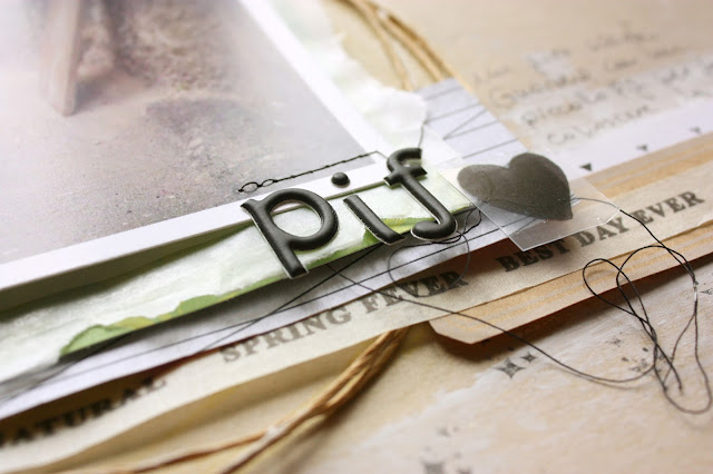 Pif il gatto - scrapbooking layout detail