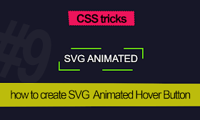 how to make SVG Animated Hover Button with CSS tricks
