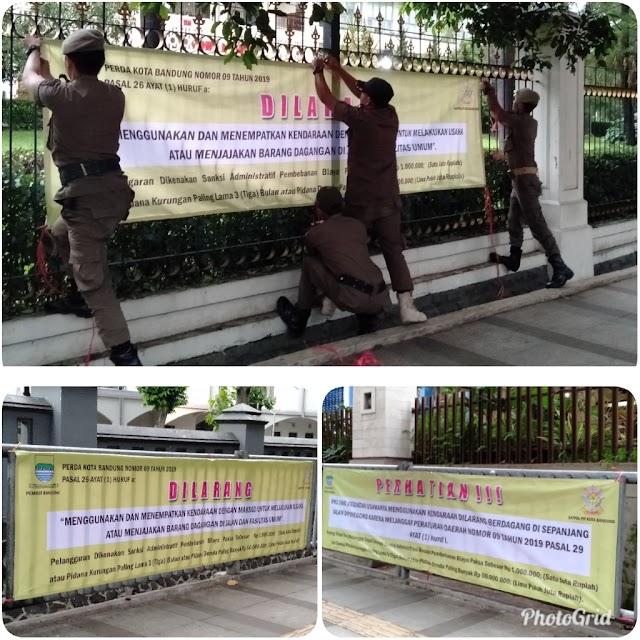 SATPOL PP Kota Bandung : Jalan Diponegoro Zona Merah Berdagang MOKO