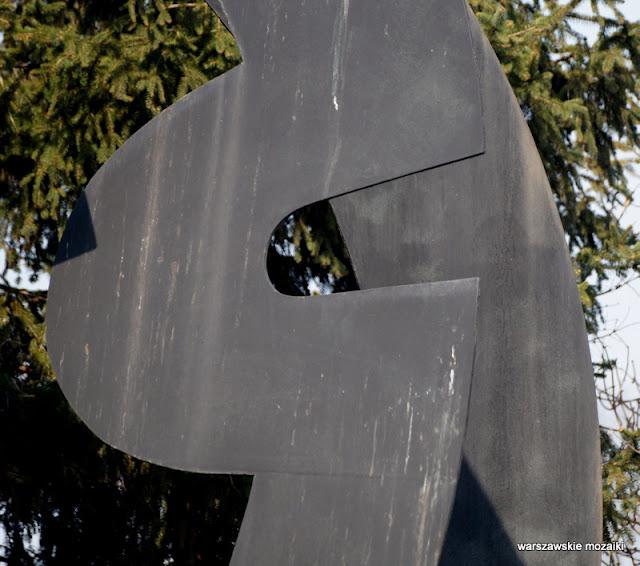 Warszawa Warsaw Saska Kępa sztuka Maciej Szańkowski lata 70 1974 Saska Kępa osiedle Ateńska