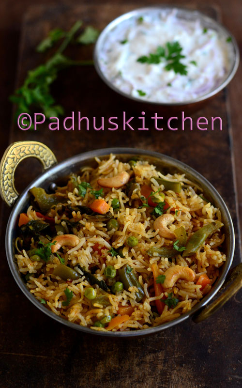 Easy Pressure Cooker Biryani How To Prepare Vegetable Biryani In Pressure Cooker Padhuskitchen