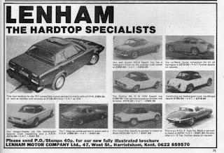 Lenham hardtop advert