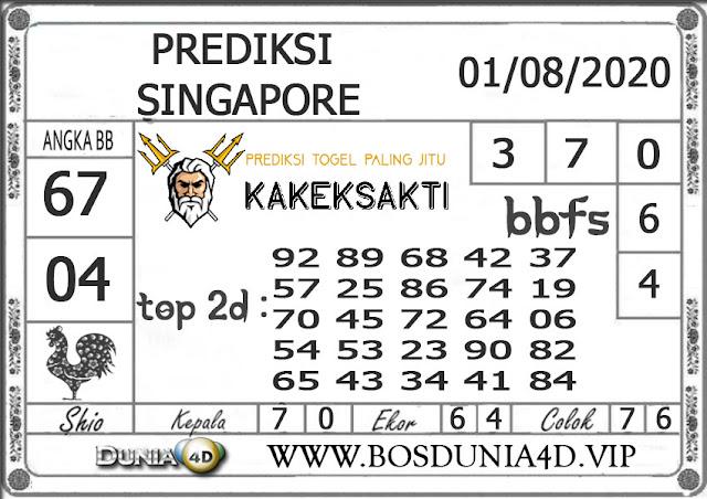 Prediksi Togel SINGAPORE DUNIA4D 01 AGUSTUS 2020