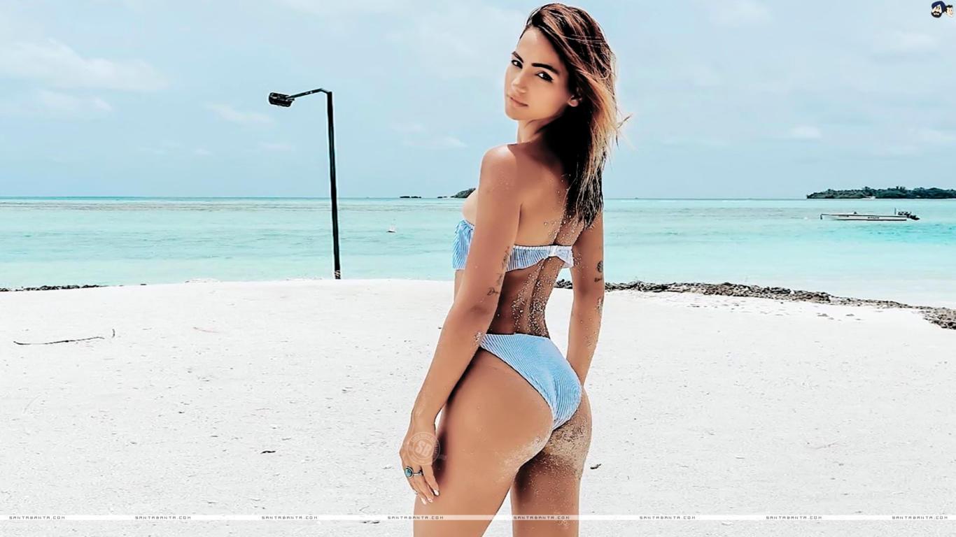 Kat Kristian Blue Bikini Hot Wallpaper