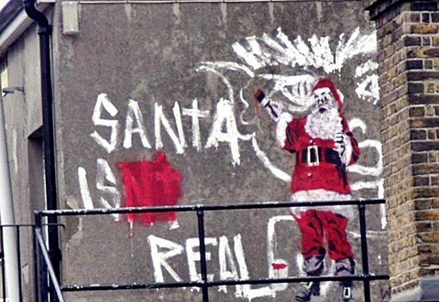Kumpulan Gambar Tulisan Graffiti Pohon Natal Dan Santa Claus Paling Keren