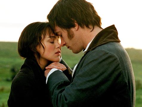 Mr. Darcy (Matthew Macfadyen) y Elizabeth Bennet (Keira Knightley) enamorados en Orgullo y prejuicio - Cine de Escritor