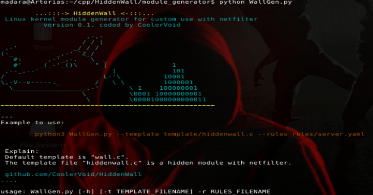 HiddenWall : Linux Kernel Module Generator For Custom Rules With Netfilter