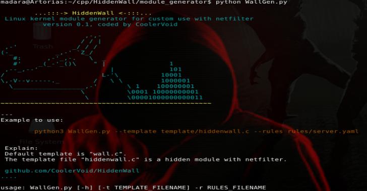 HiddenWall : Linux Kernel Module Generator For Custom Rules With Netfilter