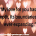 My love for you has no depth - Beautiful Romantic Quotes