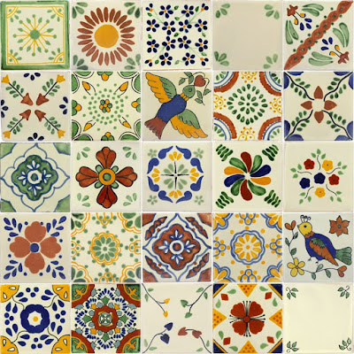 Mixed Talavera Tile - $26.40 Springtime Bohemian Home Decor {Pastel Bohemian, Springtime Boho Home Decorations, Bohemian Easter}