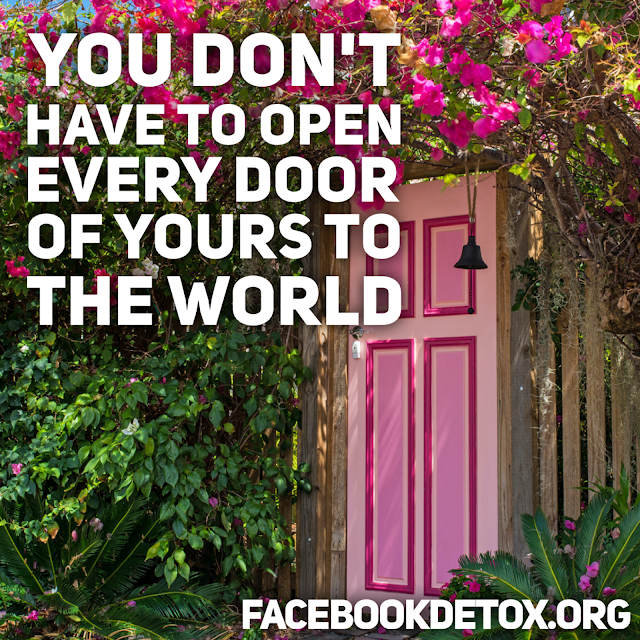 the closed door - your life doesn't need to be an open door for the world