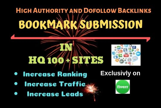 I will create top 100 bookmark backlink on high PR sites