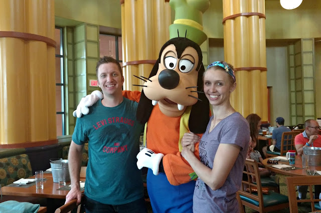Experience the magic of Disney by going to a character dining restaurant at the Garden Grove restaurant at the WDW Swan and Dolphin Resort in FL.